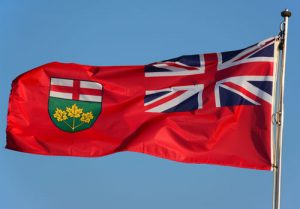 Ontario Flag for page about government information.